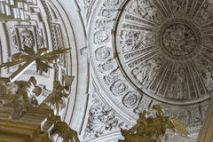 Detail of dome with four Evangelists in their pendentives and is Stock Image