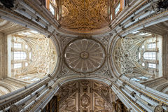 Detail of the dome inside Cordoba Mosque Cathedral Royalty Free Stock Photography