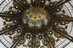 Detail on Dome of Layette Department Store, Paris Royalty Free Stock Photos
