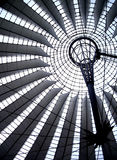 Detail of a dome in Postdammer Platz, Berlin. Modern Iron dome, new architecture in Berlin Stock Images