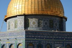 Detail of the Dome of the rock Stock Photo