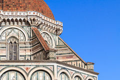 Detail of the dome Santa Maria del Fiore in Florence, Italy Royalty Free Stock Photography