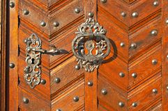 The detail of the door Stock Images