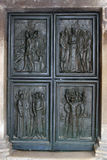 Detail of the door of the Cathedral of St. James in Sibenik, Croatia Stock Image