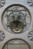 Detail door of cathedral Trento, Italy royalty free stock image