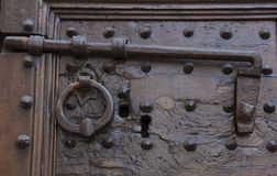 Detail in door of Florence Stock Photos