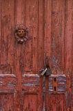 Detail of a door in Gaios village, Paxoi island, Greece Royalty Free Stock Photography
