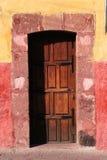Detail of a door of a house facade Stock Photography