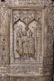 Detail of the door of Leon cathedral, Spain Stock Photo