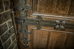 Detail of a Door. A metal ornament on an old door Royalty Free Stock Images