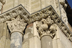 Detail of the door of Saint Sernin, Toulouse,. France Royalty Free Stock Photo