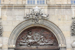 Detail of door  to Hotel des Invalides - Paris. Royalty Free Stock Images