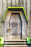 Detail of the door of a typical ukrainian antique  Royalty Free Stock Image
