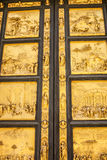 Detail of the Doors of Paradise in Battisteroi Stock Photography