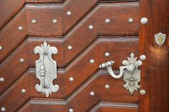 Detail of doors, streets of Prague Stock Photo