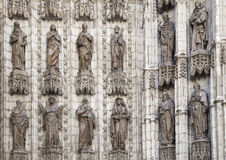 Detail of doorway of Seville cathedral Royalty Free Stock Photography