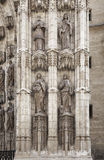 Detail of doorway of Seville cathedral Stock Photos