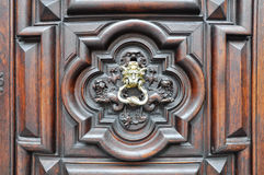 Detail of a doorway in Turin. Royalty Free Stock Photo