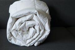Detail of down comforter stock photos