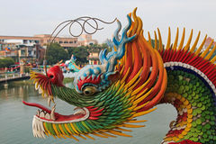 Detail of the Dragon at Dragon And Tiger Pagodas of Lotus Pond, Kaohsiung Royalty Free Stock Images