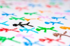 Colored texture of stick figures royalty free stock photos