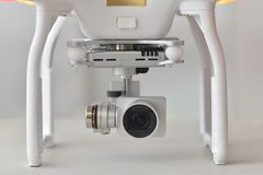 Detail of drone quadrocopter Dji Phantom 4 Stock Photo