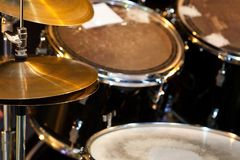 Detail of a drum kit Stock Image