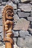 Detail, dry built lava stone wall Royalty Free Stock Photo