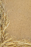 Detail of dry grass hay and OSB, oriented strand b Royalty Free Stock Photography