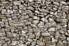Detail of a Dry Stone Wall. A traditional dry stone wall in Derbyshire in the UK Stock Photos