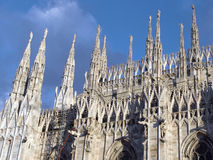 Detail: Duomo of Milan. Detailed view of Duomo, in Italy, with spires Stock Photography
