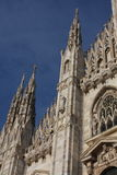 Detail of Duomo Milan Cathedral in Italy Royalty Free Stock Photography