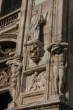 Detail of Duomo Milan Cathedral in Italy Stock Images