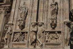 Detail of Duomo Milan Cathedral in Italy Stock Image