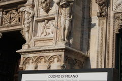 Detail of Duomo Milan Cathedral in Italy Royalty Free Stock Images
