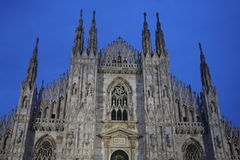 Detail of Duomo Milan Cathedral in Italy Stock Photos