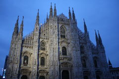 Detail of Duomo Milan Cathedral in Italy Stock Photo