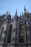 Detail of Duomo Milan Cathedral in Italy Royalty Free Stock Photos