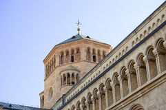 Detail of the Duomo of Trento. Detail of the twelfth-thirteenth century Cathedral of San Vigilio, Duomo of Trento, Italy Royalty Free Stock Photos