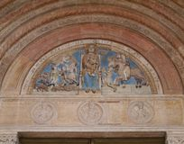 A detail of the duomo of Verona in Italy Royalty Free Stock Images