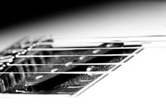 Detail Of Dusty Guitar Stock Image