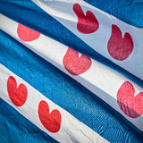 Detail of a Dutch Frisian province flag Stock Images