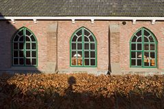 Detail of Dutch Reformed Church in the Dutch Open Air Museum in Arnhem Royalty Free Stock Photography