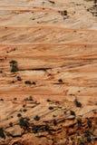 Detail, dwars huidige lagen van rood zandsteen Stock Afbeelding