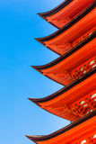 Detail of Eaves on a Japanese Pagoda Stock Images