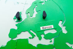 Detail of education globe for childs with braille writing. Europ Stock Photos