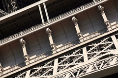 Detail of Eifell tower Stock Photography