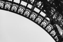 Detail of Eiffel Tower. Close up view of Eiffel Tower Stock Photography