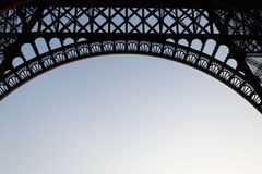 Detail of Eiffel tower from bottom Stock Photography