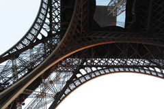 Detail of Eiffel tower from bottom Stock Photos